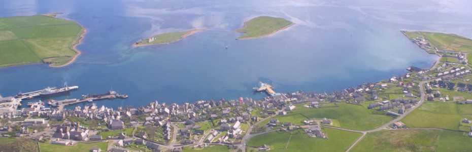 Aerial view of Stromness (Credit Aquatera)