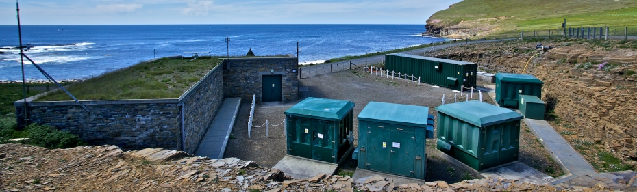EMEC Billia Croo substation and wave test site (Credit Colin Keldie)