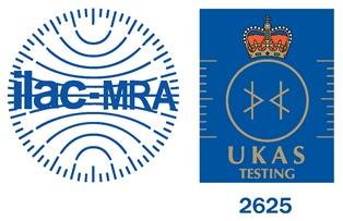 OLAC MRA & UKAS Testing logo