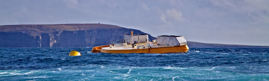 Wello Penguin operating at EMEC Billia Croo wave test site (Credit Colin Keldie, courtesy of CEFOW) 17 web banner