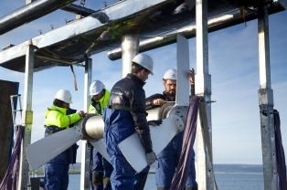 Magallanes test turbines (Credit Colin Keldie)