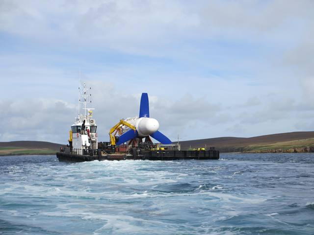 Transportation of Voith turbine to EMEC tidal test site (Credit Voith)