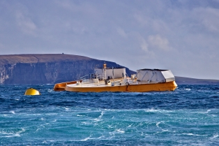 Wello Penguin operating at EMEC Billia Croo wave test site (Credit Colin Keldie, courtesy of CEFOW)