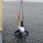 Installation of Voith turbine at EMEC tidal test site (Credit Voith)