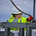 EMEC's Operations Technician performing maintenance on the Hydrogen plant on Eday