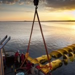Flumill deploying at the scale tidal test site (credit: MIke Brookes-Roper)