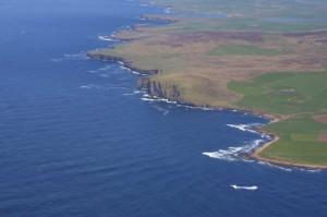 Aerial view of Billia Croo, EMEC wave test site (Image Aquatera)