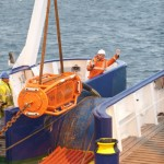 Cable laying at the tidal test site (Image Mike Brookes-Roper)