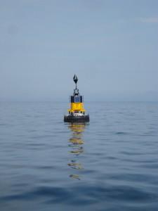 Cardinal buoy at EMEC wave test site, Billia Croo (Image EMEC)
