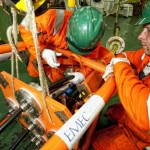 Fitting EMEC purpose built cable ends (Image Mike Brookes-Roper)