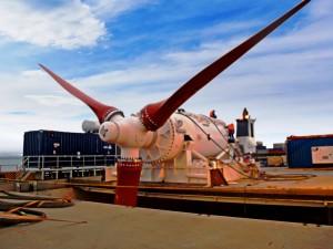 HS1000 tidal turbine at EMEC test site (Image Andritz Hydro Hammerfest)