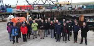 Delegates at Hatston Pier, Kirkwall (Credit: Orkney Photographic)