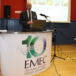 Neil Kermode's opening address to delegates at EMEC's Global Ocean Energy symposium (Credit: Orkney Photographic)