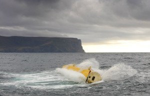 Oyster 1 wave power device in operation at Billia Croo (Image Aquamarine Power Ltd)