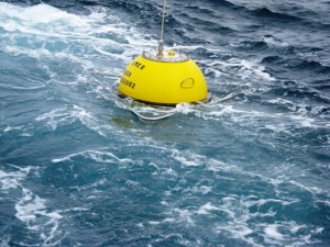 Waverider buoy at sea (Image EMEC)