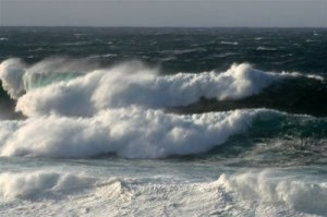 Waves at the Billia Croo wave test site (Image EMEC)