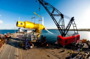 Alstom's 1MW DeepGen turbine at Hatston Quay (Image Alstom)