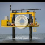 OpenHydro's test rig at the EMEC tidal test site (Image Mike Brookes-Roper)