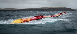 Pelamis Wave Power's P2-001 at Billia Croo, EMEC's wave test site (Image: Pelamis Wave Power)