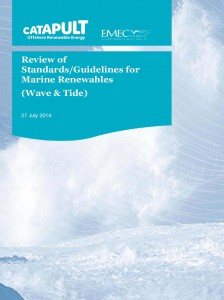 ORECAT Review of Stanards for marine renewables July 2014