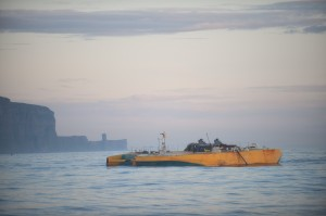 Wello testing Penguin wave energy converter at Billia Croo (Credit Mike Brookes-Roper)