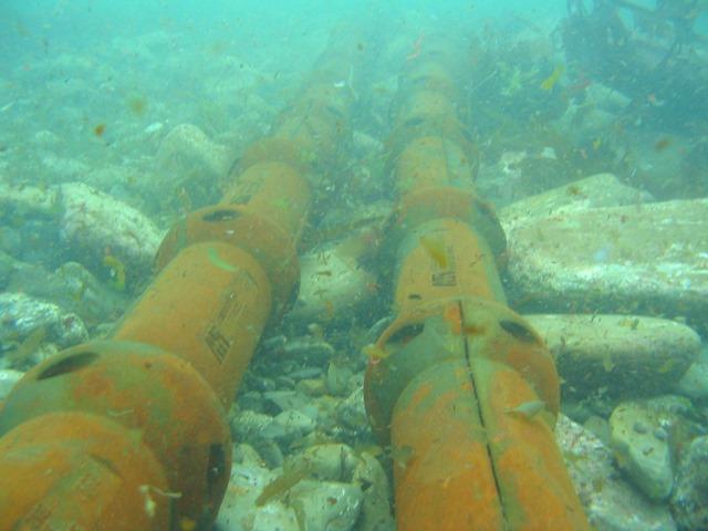 Armoured sub sea cables at EMEC (Credit EMEC)