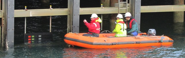Whitford coating trials at Stromness Harbour (Credit: EMEC)