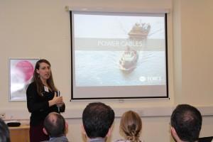 Anne-Marie Belliveau updates delegates on activities at FORCE: International WaTERS workshop, ICOE 2016