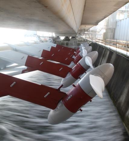 Tocardo turbines Eastern Scheldt storm surge barrier (Credit Tocardo)