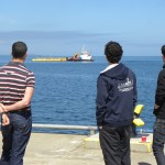 Watching the SR2000 arrival in Orkney, June 2016 (Credit EMEC)