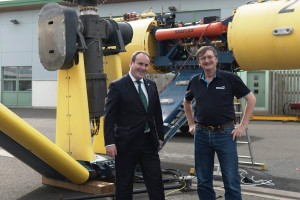 Christoph Harwood at SME with Paul Wheelhouse, August 2016 (Credit Scottish Government)