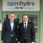 James Ives at OpenHydro with Paul Wheelhouse (Credit Scottish Government)