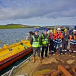 Some of the Scotrenewables team with Paul Wheelhouse (Credit Colin Keldie courtesy of Scotrenewables)