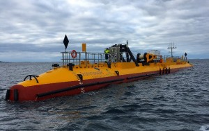Scotrenewables' SR2000 being deployed at EMEC tidal test site, October 2016 (Credit Scotrenewables)