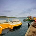 Green Marine transport Wello Penguin to EMEC Billia Croo wave test site (Credit: Colin Keldie)