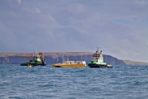 Green Marine install Wello Penguin at EMEC Billia Croo wave test site (Credit: Colin Keldie)