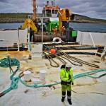 Green Marine preparing to install Wello Penguin at Billia Croo (Credit Colin Keldie, courtesy of CEFOW)