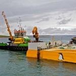 Green Marine preparing to tow Wello Penguin to Billia Croo (Credit Colin Keldie, courtesy of CEFOW)