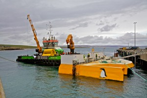 Green Marine preparing to tow Wello Penguin to Billia Croo (Credit Colin Keldie, courtesy of CEFOW)