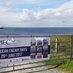 Orkney Ocean Energy Day, Billia Croo, Wello in background, June 2017 (Credit: EMEC)
