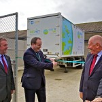 Scottish Energy Minister, Paul Wheelhouse, cuts the ribbon at the Surf n Turf hydrogen fuel cell training compound (Credit Colin Keldie)