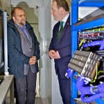 Scottish Energy Minister, Paul Wheelhouse, on tour of Surf n Turf hydrogen fuel cell training compound (Credit Colin Keldie)