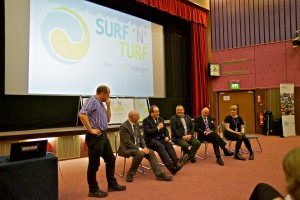 Orkney's Hydrogen Future Seminar with Paul Wheelhouse and Surf n Turf project partners (Credit Colin Keldie)