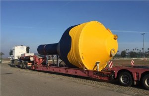 CorPower buoy shipping from Portugal (Courtesy of CorPower)