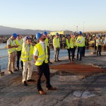 International WaTERS delegates visit offshore wind foundation