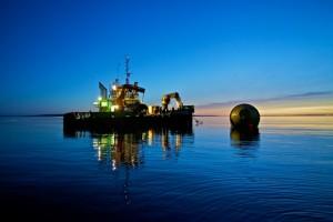 CorPower C3 WEC deployment at EMEC Scapa Flow site (Credit: Colin Keldie)