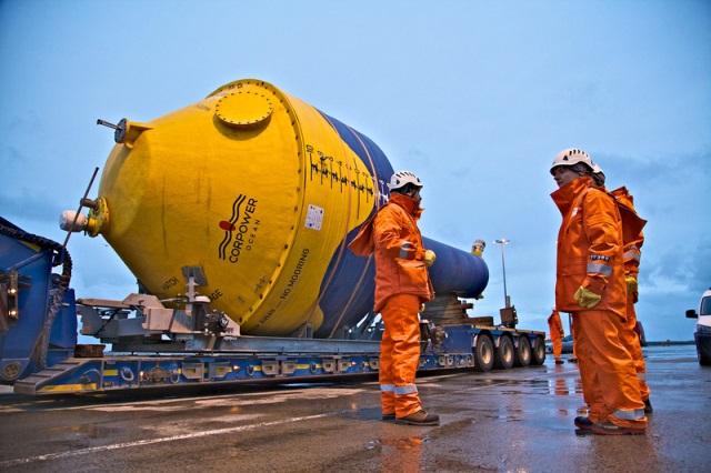 CorPower C3 wave energy converter arrives in Orkney (Credit: Colin Keldie)