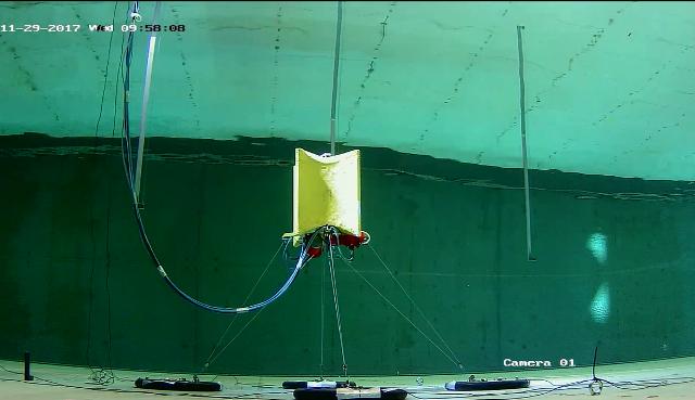 Laminaria scale model tank testing (Credit: Laminaria)