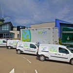 BIG HIT hydrogen mobile storage unit with OIC hydrogen powered vans (Credit Colin Keldie)