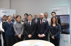 EMEC staff with partners from marine energy centre in China (Credit: EMEC)